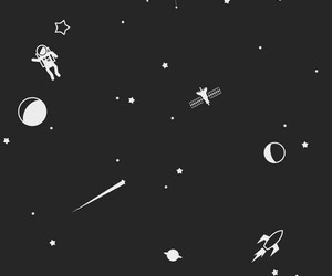 black, moon, and planets image