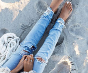 jeans, summer, and fashion image