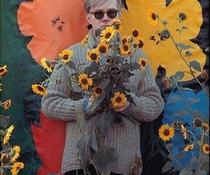 andy warhol and flowers image