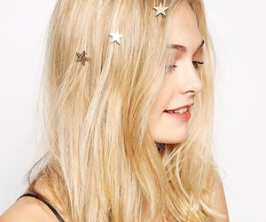 stars, blonde, and girl image