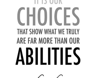choices, harry potter, and jk rowling image