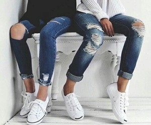 jeans, fashion, and girls image