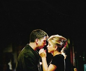 kiss and friends ross rachel love image