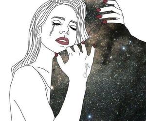 art, crying, and tumblr image