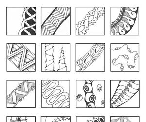 linear, patterns, and zentangle image