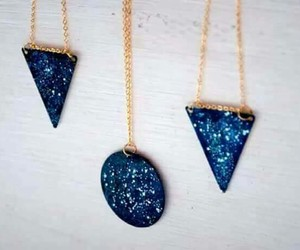 blue, necklace, and circle image