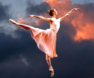 ballet, cloud, and sunset image