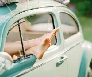car, feet, and freedom image