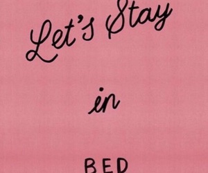 bed, pink, and quotes image