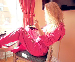 pink, blonde, and girl image