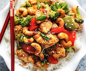 broccoli, chinese, and food image