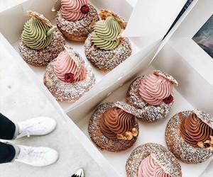 dessert, eat, and donut image