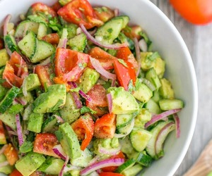 avocado, food, and salad image