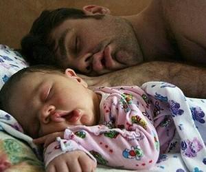 baby, family, and sleep image