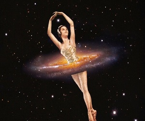 ballerina and galaxy image