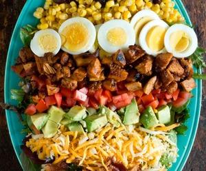 food, hungry, and salad image