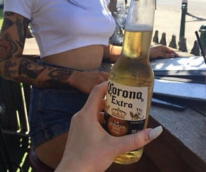 tattoo, drink, and nails image