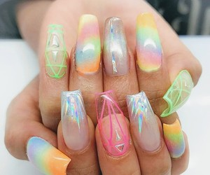 nails, summer, and boy image