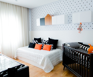 baby room, black, and home decor image