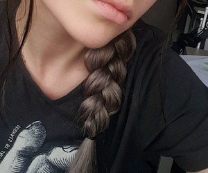 braid, nose stud, and piercing image