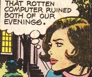 vintage comics and vintage computer image
