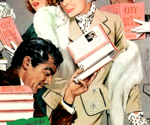 1950s, vintage books, and vintage illustration image