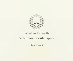 quotes, alien, and human image