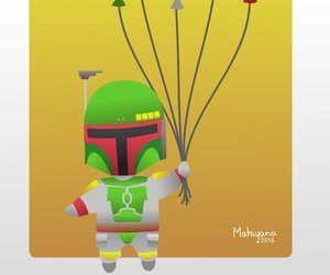 baloons, boba fett, and birthday card image