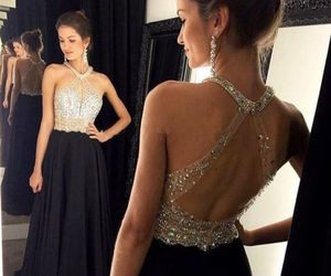 dress, Prom, and black image