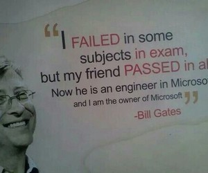 bill gates, exam, and quote image
