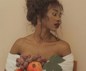 girl, fruit, and model image