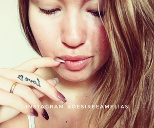 beauty, nails, and finger tattoo image