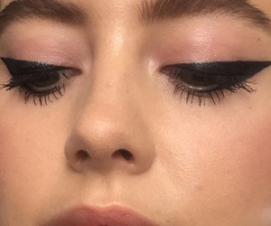 makeup, eyeliner, and face image