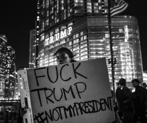 feminism, protest, and fuck trump image