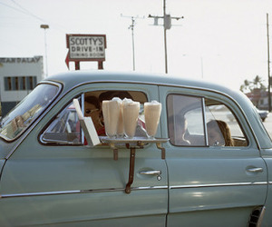 vintage, car, and milkshake image