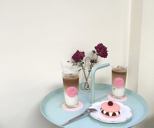 cafe, food, and pink image