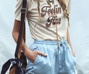 outfit, shorts, and tshirt image