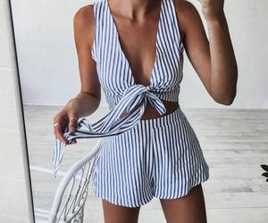 beach, brunette, and fashion image