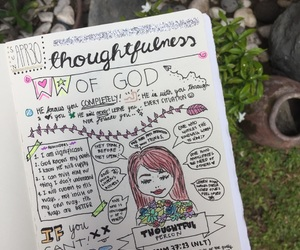 bible, drawing, and journal image