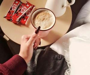 cappuccino, chocolate, and قهوة العربيه image