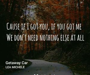 lea michele, Lyrics, and music image