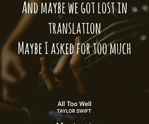 Taylor Swift and all to well image