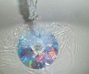 water, cd, and grunge image