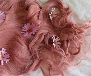 cool, flowers, and hair image