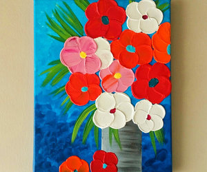 etsy, flower vase, and flower painting image