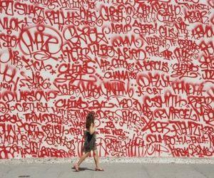 graffiti, red, and art image