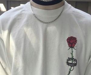 rose, grunge, and white image