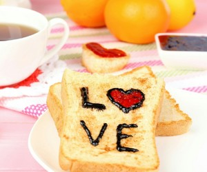 bread, food, and love image