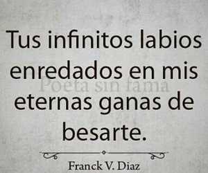amor, Besos, and frase image