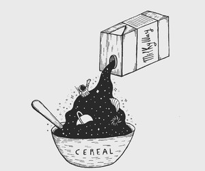 art, cereal, and space image